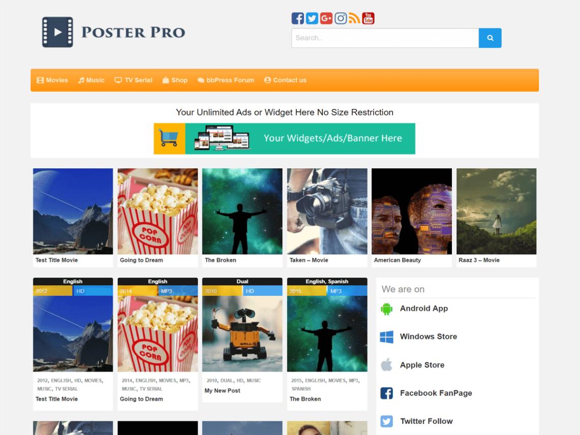 Poster — Free WordPress Themes