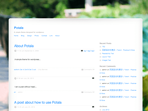 Potala free wordpress theme