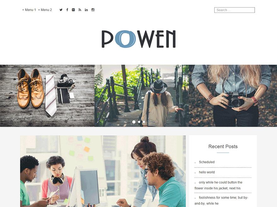 Powen Lite free wordpress theme