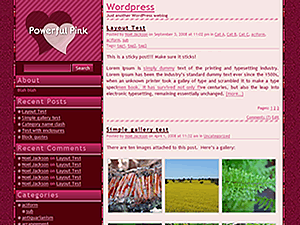 Powerful Pink wordpress theme