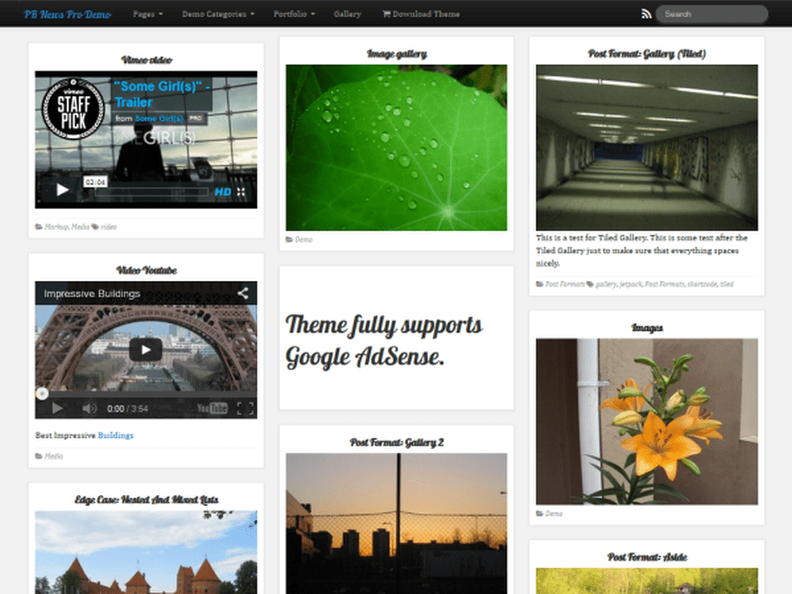 PR News free wordpress theme