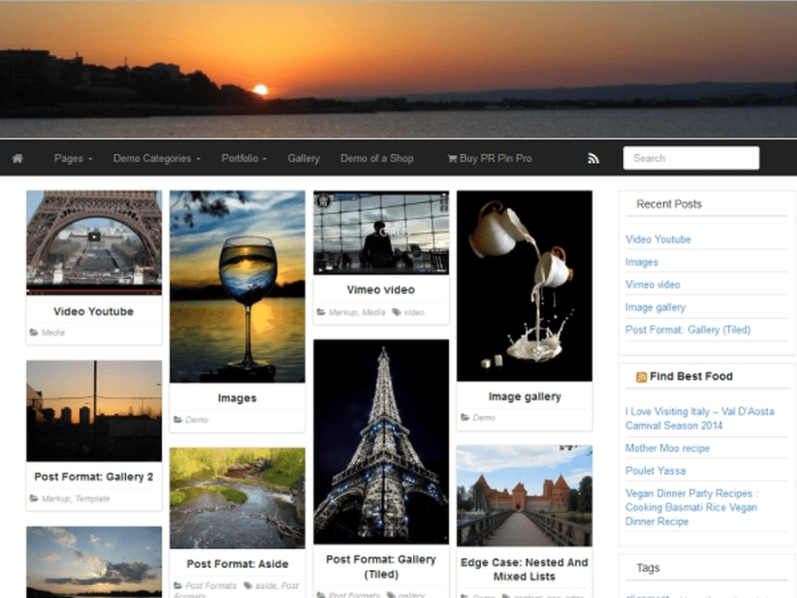 PR Pin free wordpress theme