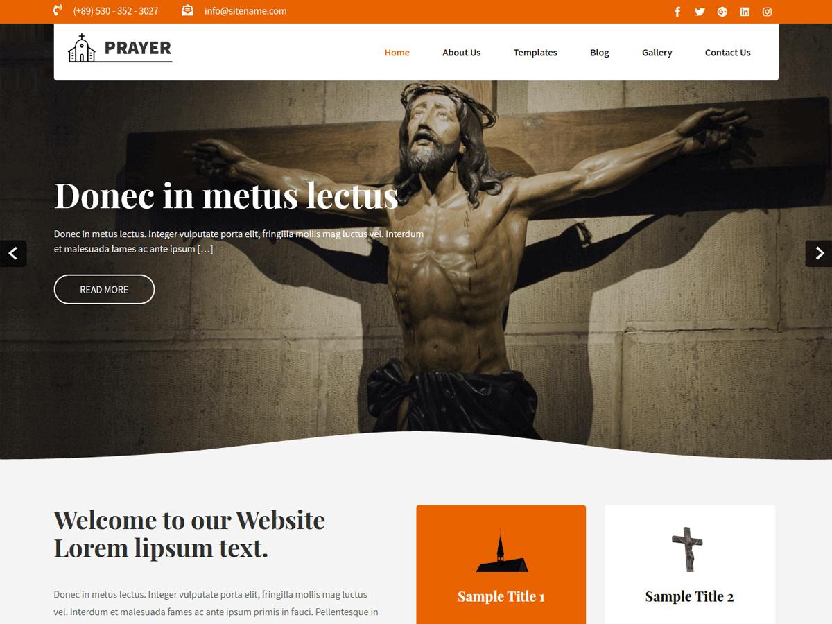 Prayer Lite - WordPress theme | WordPress.org Akan