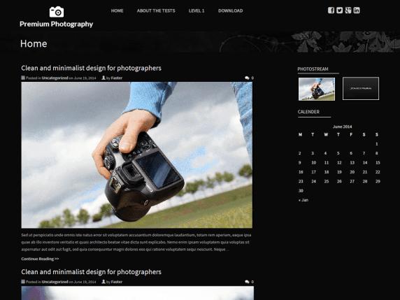 Premium Photography wordpress theme