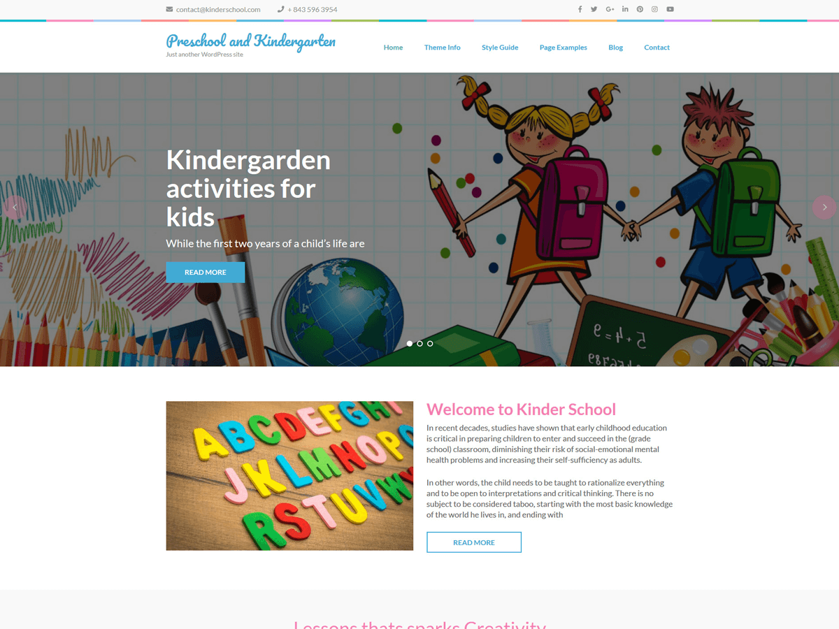 Preschool And Kindergarten Wordpress Theme Wordpress Org