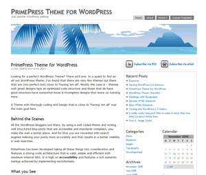 PrimePress free wordpress theme