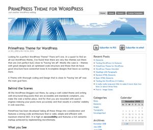PrimePress wordpress theme