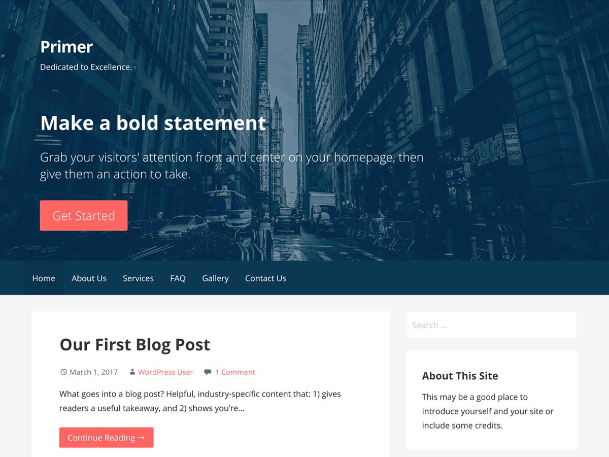 Primer Wordpress Theme Wordpress Org