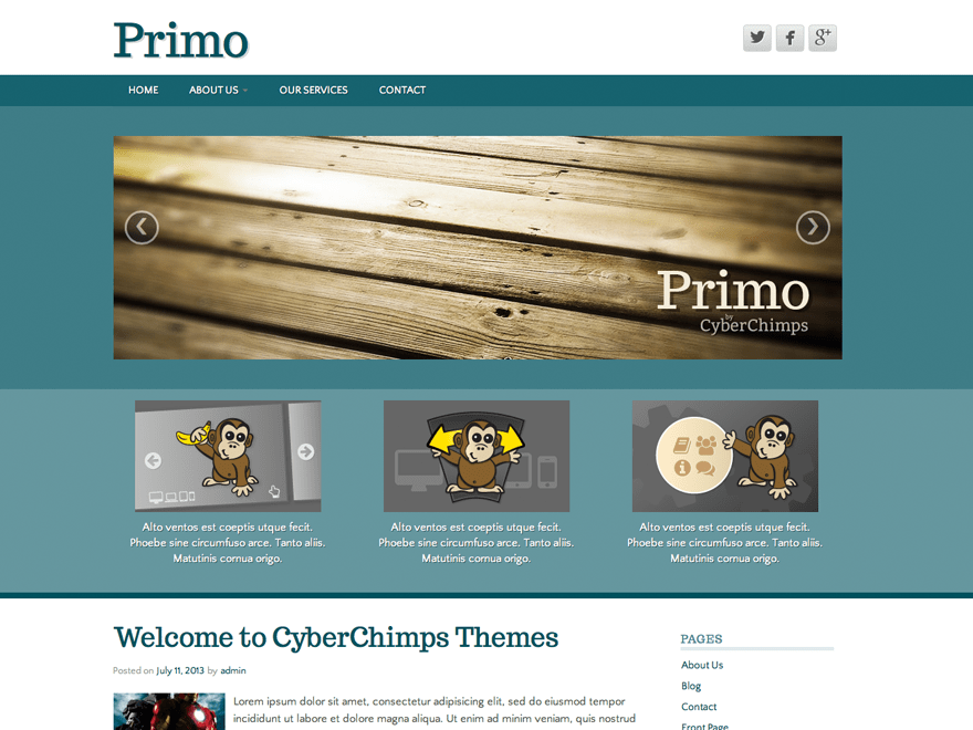 Primo Lite theme wordpress gratuit