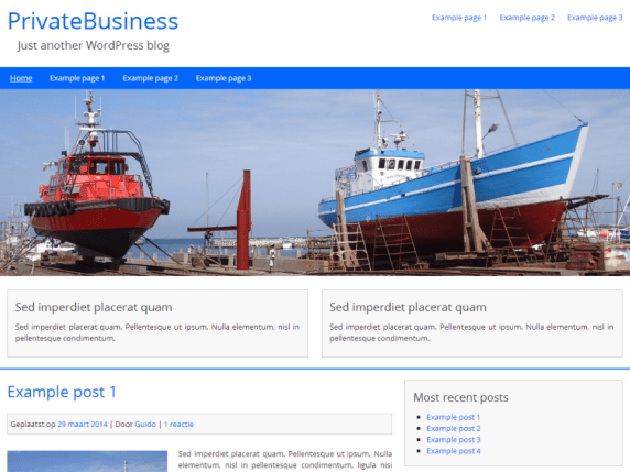 PrivateBusiness wordpress theme