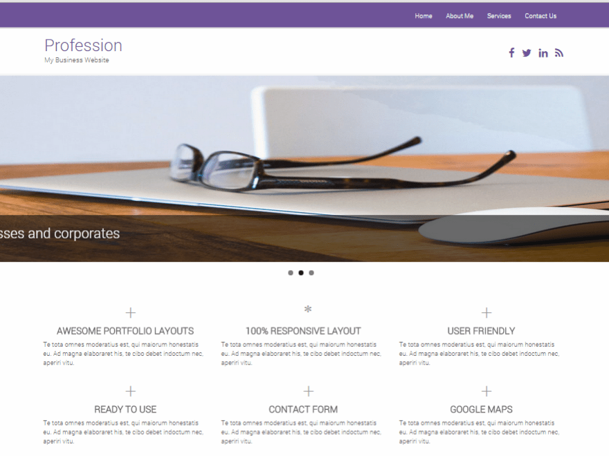 Profession free wordpress theme