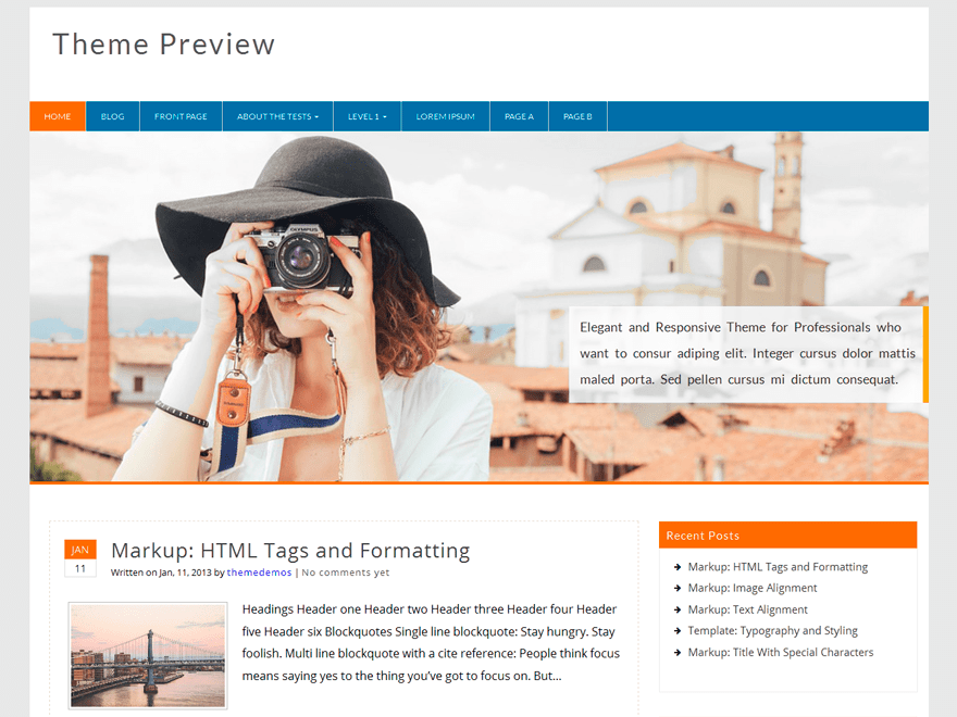 Profound free wordpress theme