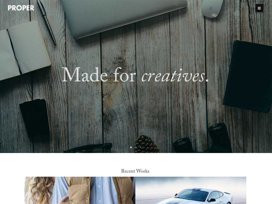 Proper Lite free wordpress theme