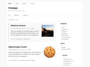 Prototype wordpress theme