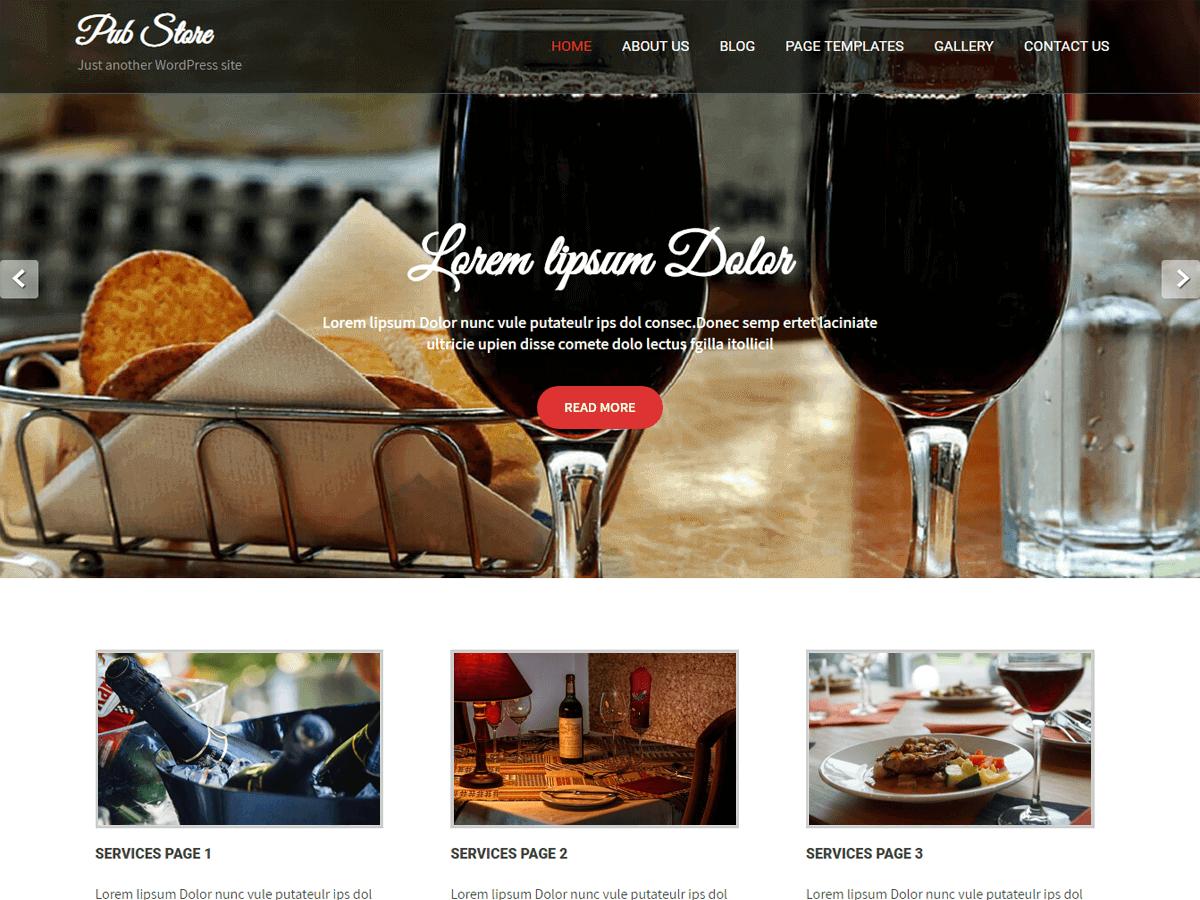 Pub Store - WordPress theme | WordPress.org Occitan