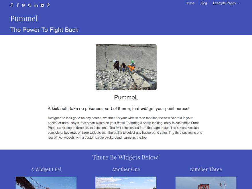 Pummel free wordpress theme