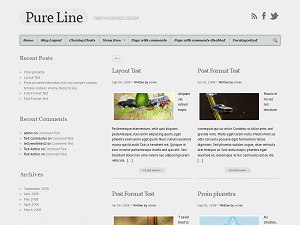 Pure Line free wordpress theme
