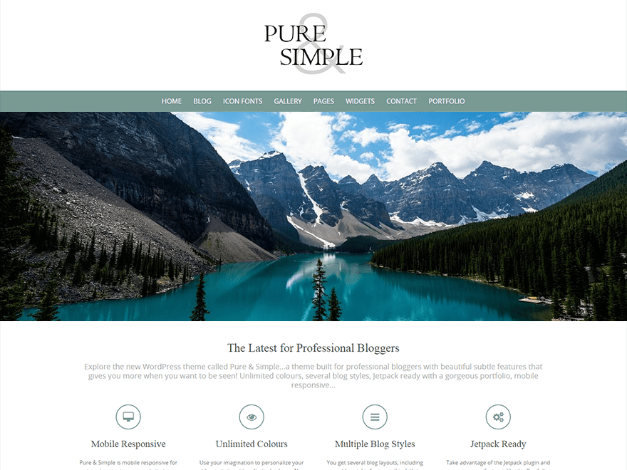 pure simple wordpress org