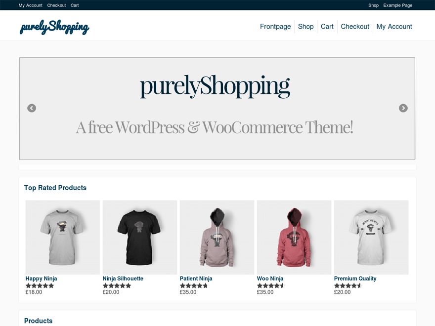 purelyShopping free wordpress theme
