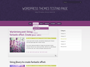 Purple Pro wordpress theme