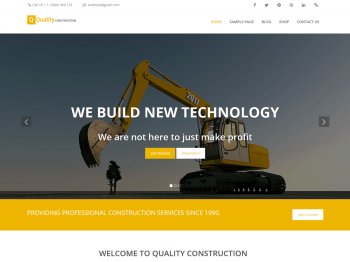 Quality Construction child theme