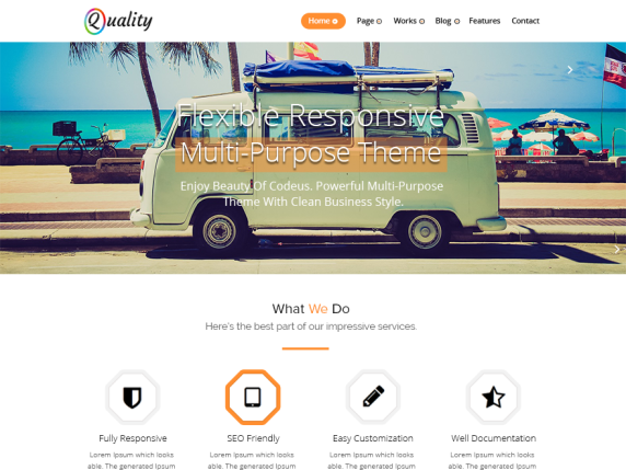 Quality orange wordpress theme