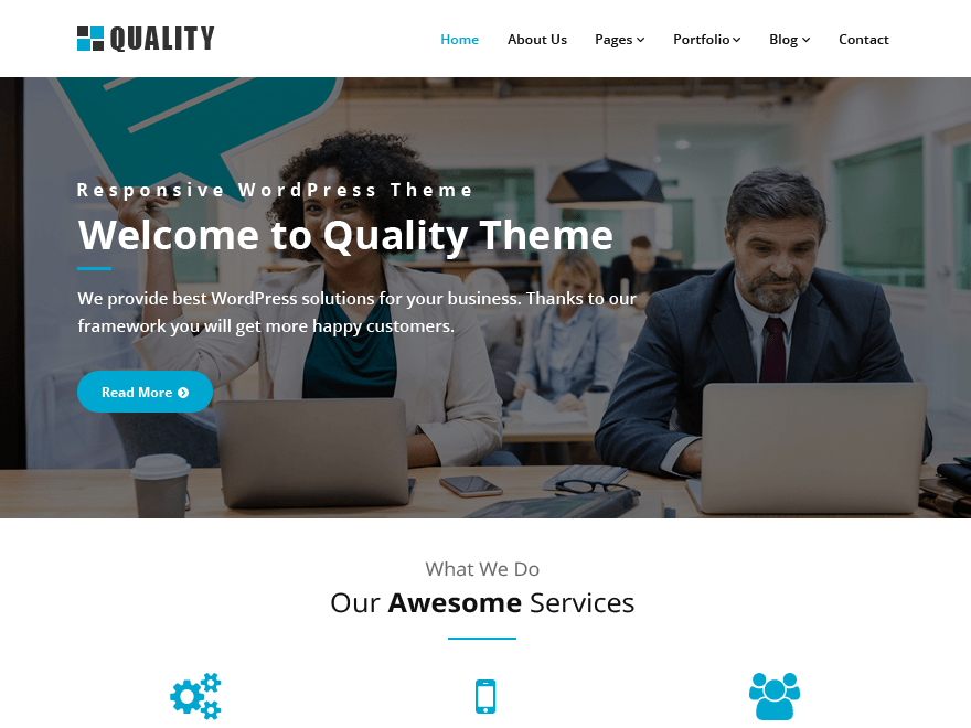 Quality wordpress quality is a perfect theme to create a corporatebusiness website it boasts 3 beautifully designed page templates namely business page full width accmission Choice Image