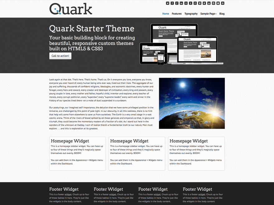 Quark free wordpress theme