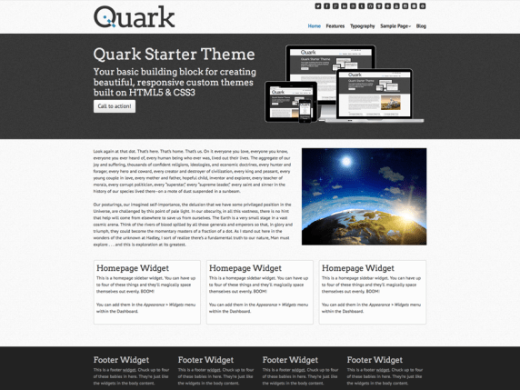 Quark wordpress theme
