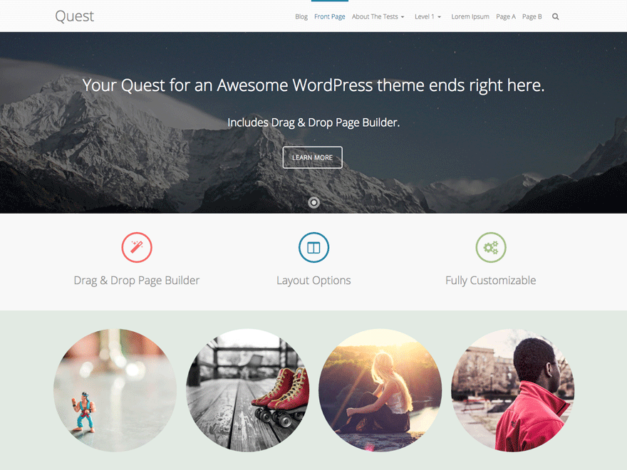 Quest free wordpress theme