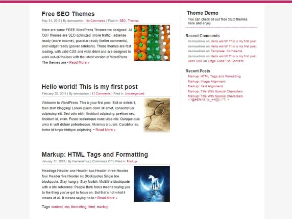 QuickChic wordpress theme