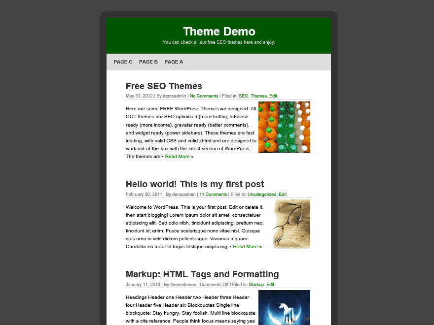 QuickPic free wordpress theme