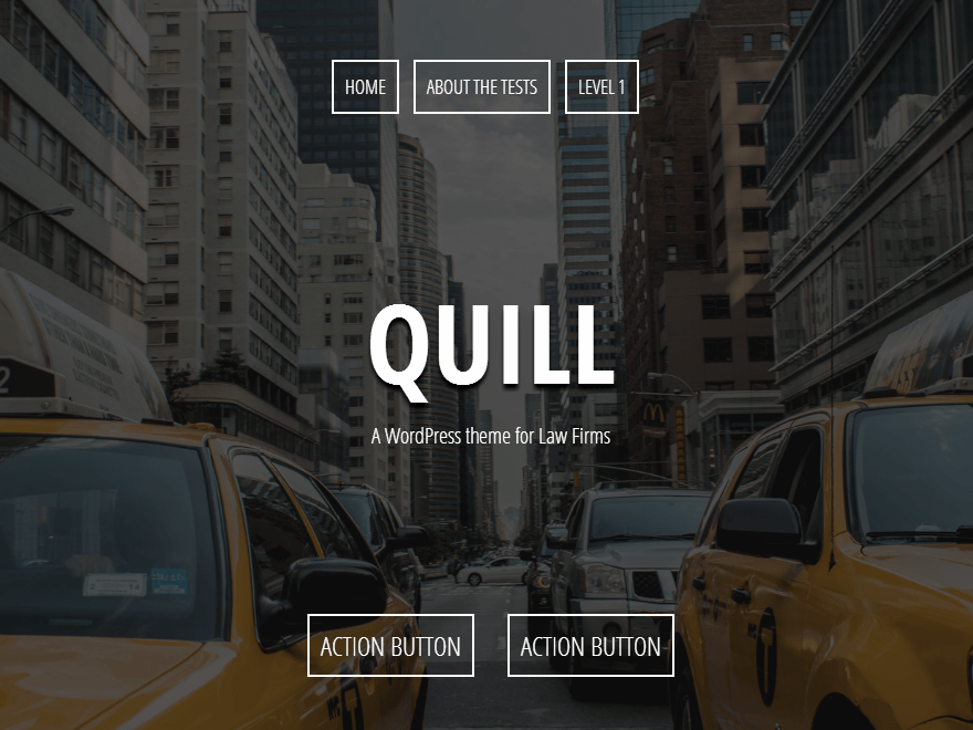 Quill free wordpress theme