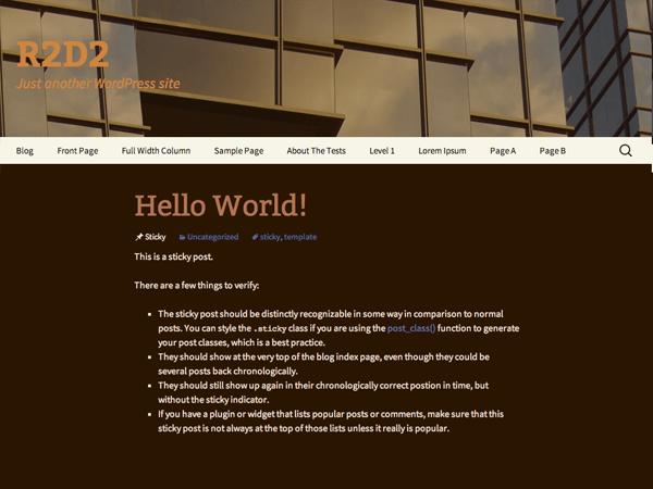 r2d2 free wordpress theme
