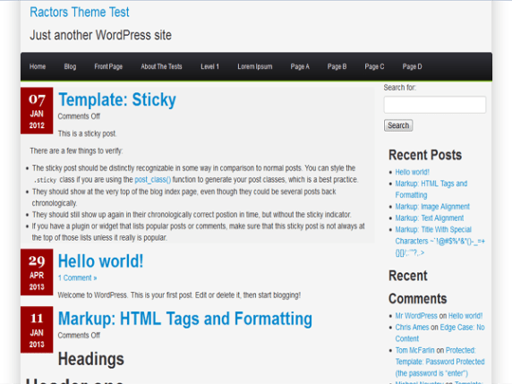 Ractopress wordpress theme