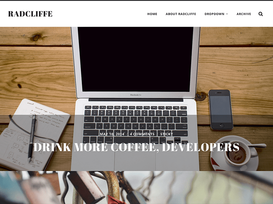 Radcliffe free wordpress theme