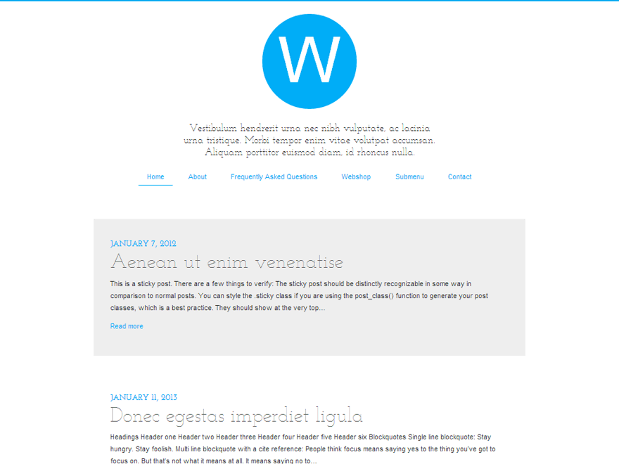 Railgun free wordpress theme