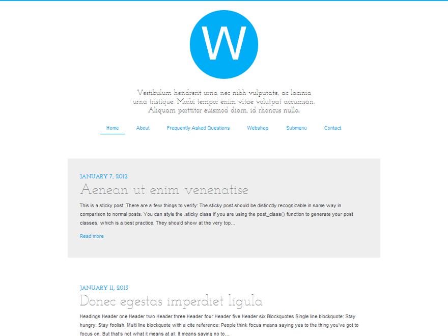 Railgun free wordpress theme