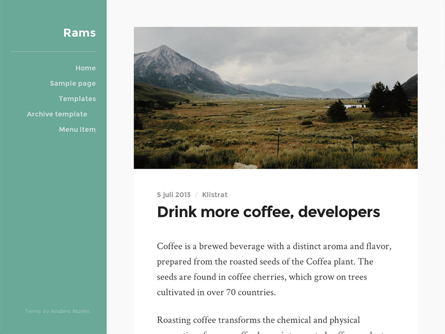 Rams free wordpress theme