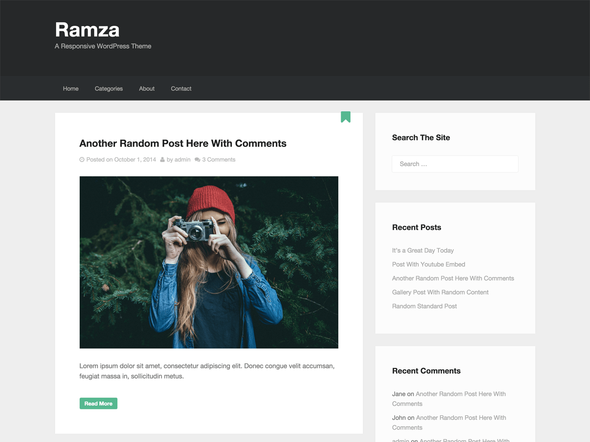 Ramza free wordpress theme