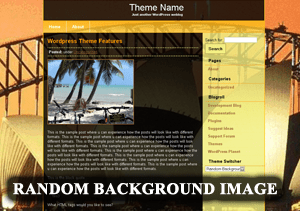 Random Background free wordpress theme