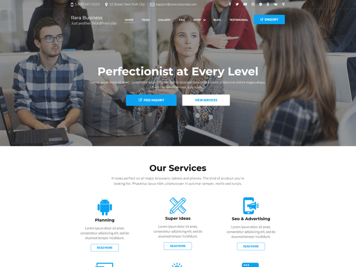 Rara Business WordPress Theme by Rara Theme