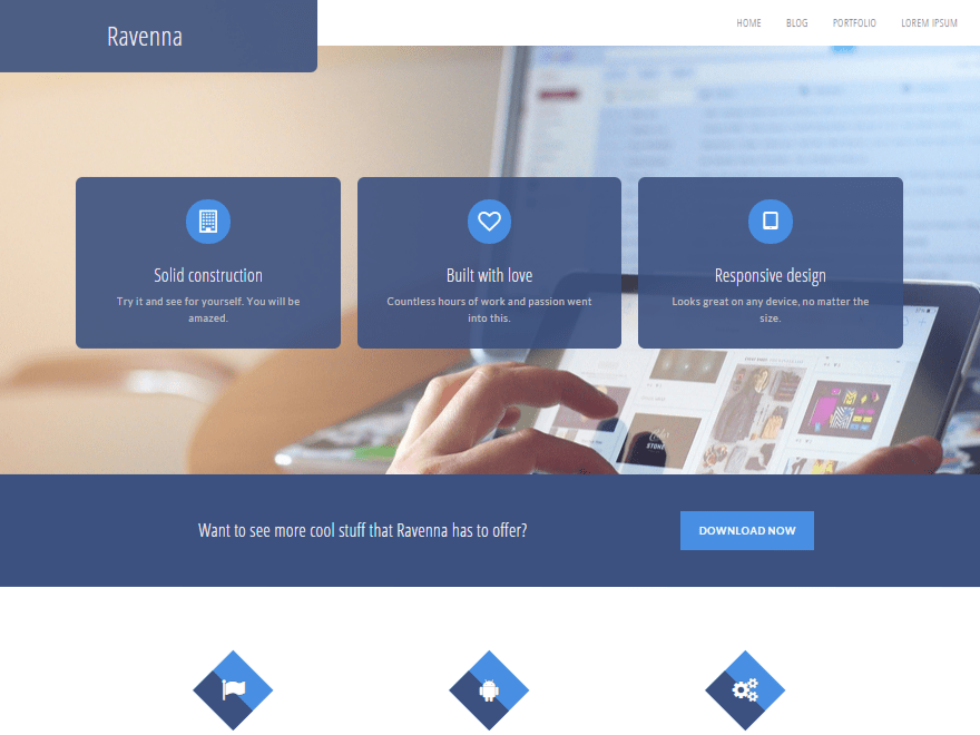 Ravenna free wordpress theme