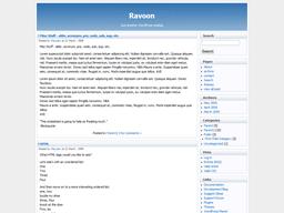 Ravoon free wordpress theme