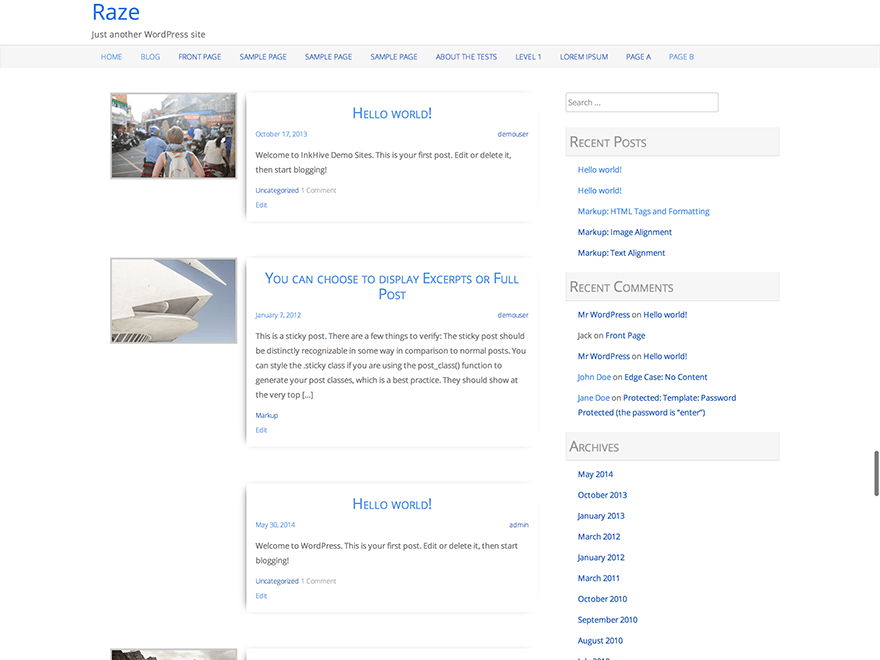 raze free wordpress theme