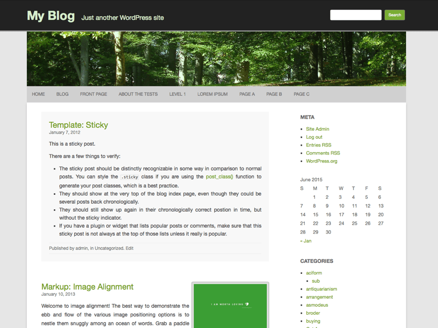 RCG Forest free wordpress theme