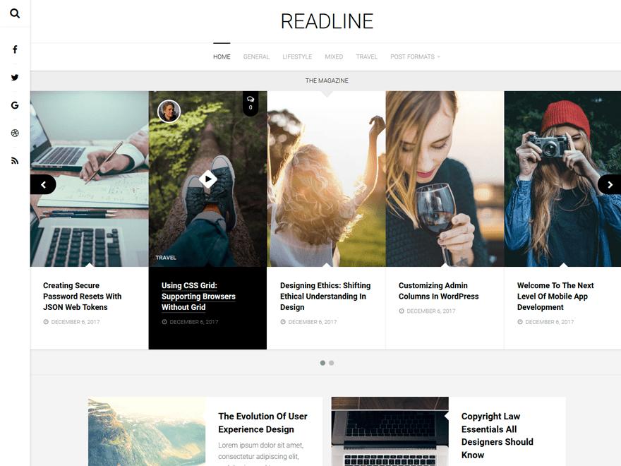 WordPress主题:Readline