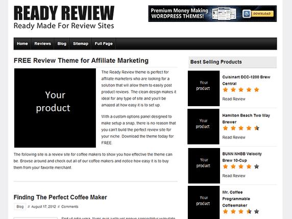 Ready Review wordpress theme