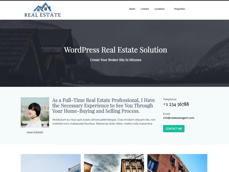 real estate agent — Free WordPress Themes