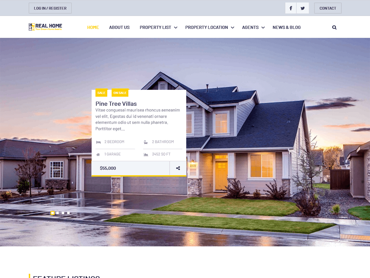 WordPress主题:Real Home